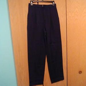 Liz Claiborne navy pants,10, vintage?